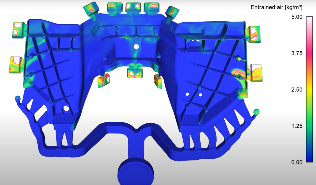 Air Entrainment During Filling | High Pressure Die Casting